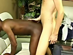 Ty likes to end his dates with a kiss and maybe a little more interracial gay action