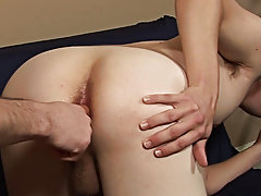 In a slow but steady pace, Rocco gently pushed the dildo into Zach's virgin ass even as Zach closed his eyes and breathed deeply free gay sex twi