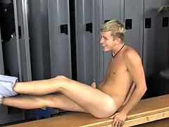 They blow each other fiercely before Preston uses his wet cock to fuck Kayden right there in the locker room male virgins first fistin at Teach Twinks