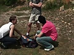 Leo Cooper, Romeo Atkinson and their buddy Bora go camping one weekend gay outdoors gallery