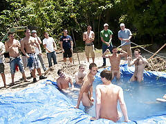There is nothing like a nice summer time splash, especially when the pool is man made and ghetto rigged as fuck male porn stars yahoo groups