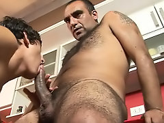 This smooth exotic boy has just left the bedroom to get a breakfast for himself and for his older hunky lover gay amature porno se