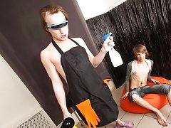 t's time for some crazy milky action and these cute gay twinks welcome you to their special sex fantasy where one of the guys gets a perfect enem