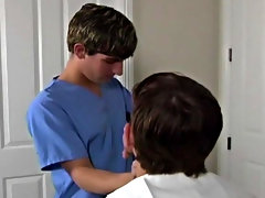 Returning from abroad, Austin and Jesse visit the doctor for their thing check up gay group orgy