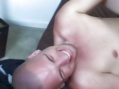Broke Straight Boys gay interracial ass sucking