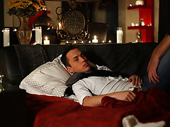 Brice Carson plays a cock thirsty vampire that's about to give Edmund, played by Krys Perez, a real lesson in fear twinks vs old gays - Gay Twink