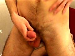AJ pulls dippy his clothes and exposes his massive cock masturbation at home males