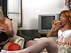 Two crossdressing addicted guys compete trying to obtain sexy version looks, and of procedure, it's female models that they're after gay hun
