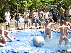 There is nothing like a nice summer time splash, especially when the pool is man made and ghetto rigged as fuck tgp gay groups