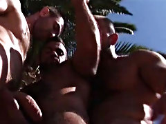 The vacation draws to an end, but it doesn't go without a bang horny gay hunks at Alpha Male Fuckers