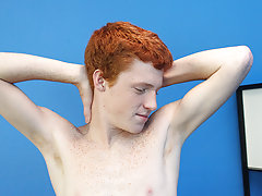 Cute Redhead Alan Parish lays back for a sexy interview with the director and a hot jackoff sesh pictures of hot gay twinks at Boy Crush!