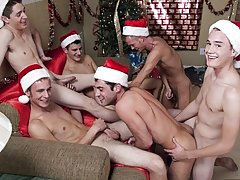 All the boys are circumambient him and stroking and kissing each other while Justin continues to increase plenty his gas with hard boy cock gay group