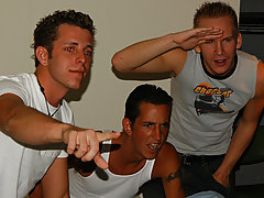It takes 2 to tango...but three well-oiled frat boys coequal a butt bonin' fiesta and you Recognize these three are ready, willing, and able hard