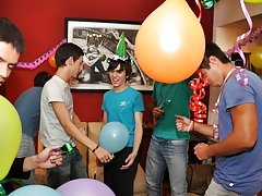 Twinks Happy Birthday party mens first time anal at Julian 18