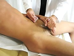 Dr. Phingerphuk was giving Zak a hand procedure as part of his exam with the goal of getting him off for a sperm sample first symptoms of menopause