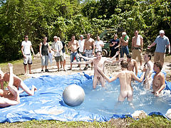 There is nothing like a nice summer time splash, especially when the pool is man made and ghetto rigged as fuck gay group sex organizations