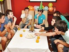 Twinks Happy Birthday party gay sneaker twink sex at Julian 18