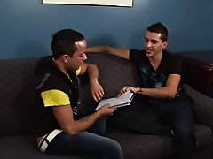 Isaac is planning to visit Mexico, so he enlists Deano to help him learn some Spanish gay hunks dancing