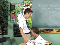 Dustin Revees and Leo Page are two schoolboys stuck in impriment gay amateur twink video at Teach Twinks