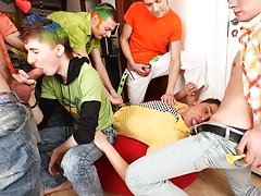 Guys, stand in queue online gay foot toe fistin at Crazy Party Boys