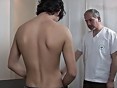 Watch the crazy twink stroke his needy eatables as the doctor worked on his muscular behind � or did he, actually mature gay older men
