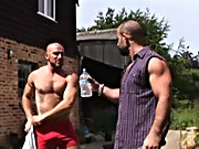 Butch moan with pleasurer as Aitor drives his fist up to the knuckles and then slips his whole fist in ranchy gay bear pig se at Alpha Male Fuckers